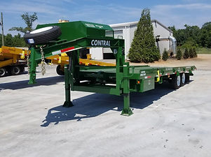 Small Gooseneck Container Delivery Trailer