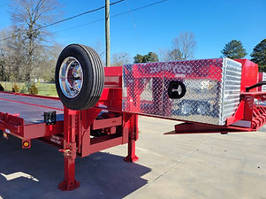 Heavy Duty Container delivery trailer for loaded containers