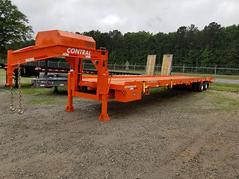 Large Gooseneck Container Delivery Trailer