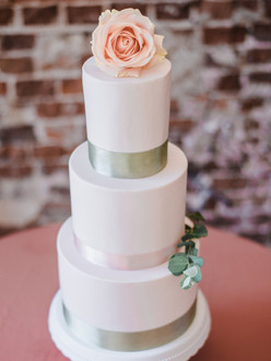 Bruidstaart zacht roze