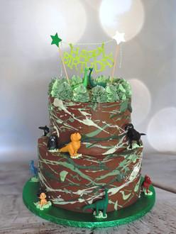 Dino splash cake