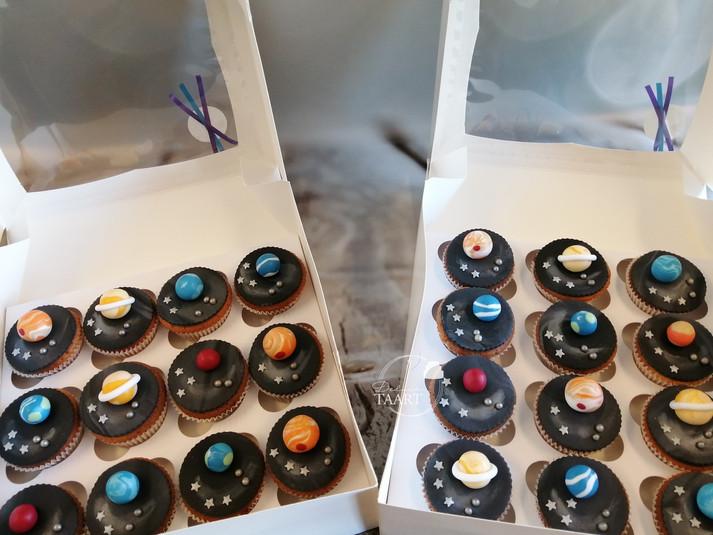 Planeten cupcakes