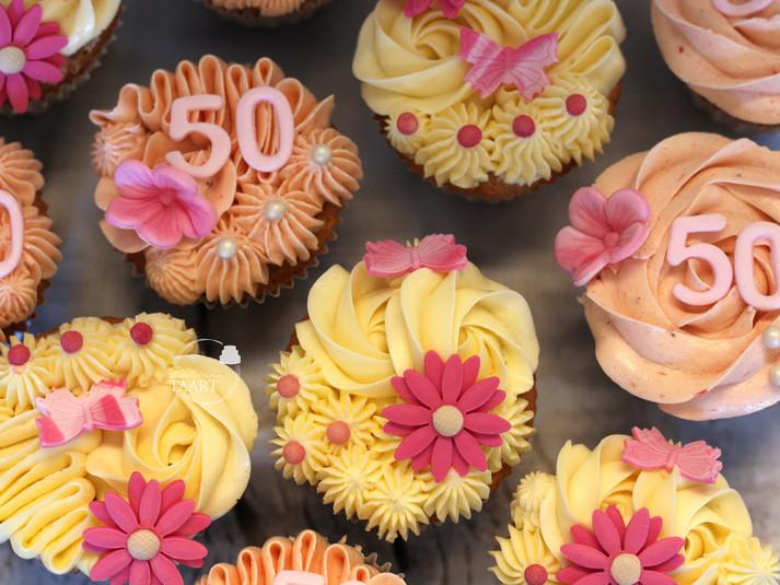 Cup cake 50 jaar