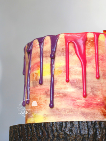 Brush/drip taart
