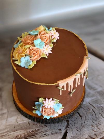 Pasteltinte taart