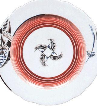 Тарелка с абстрактным рисунком