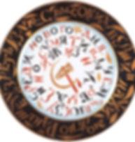 Тарелка с надписью и символикой