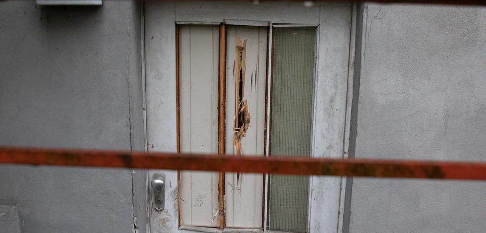 The basement door