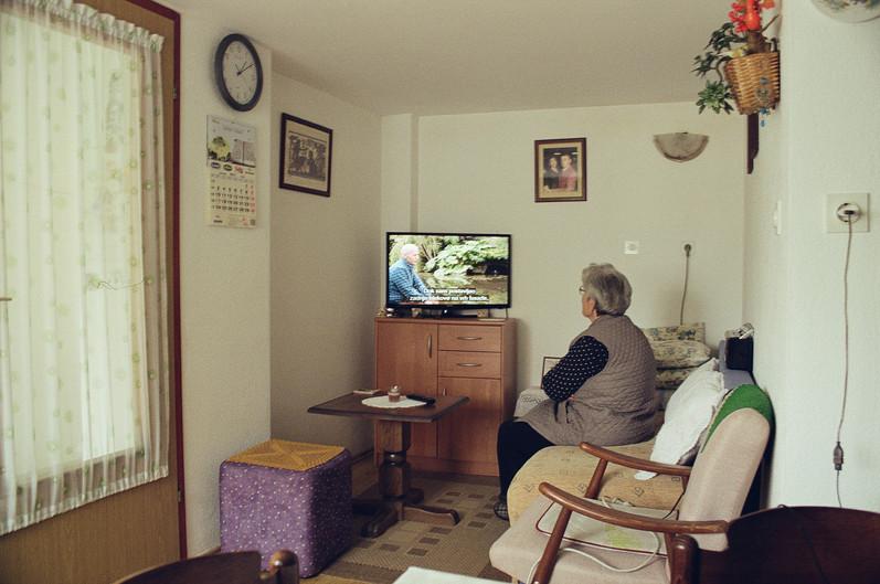 Milena in her livingroom
