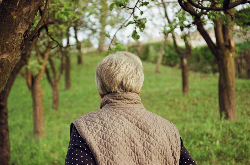 Milena in her garden