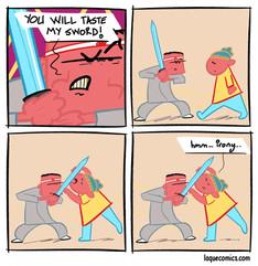 Taste my sword
