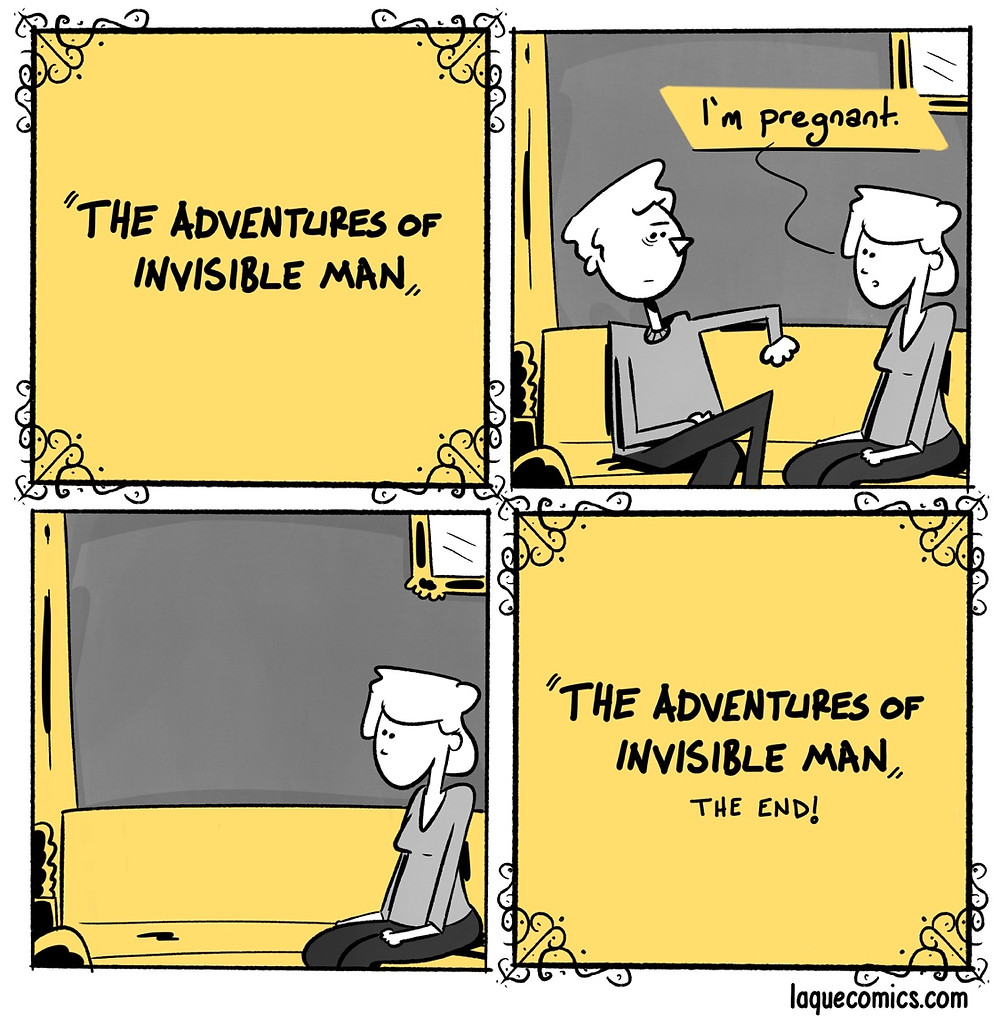 An adventure of an invisible man.