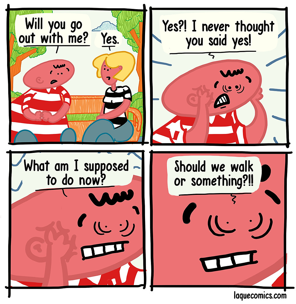 A four-panel comic about a proposal.