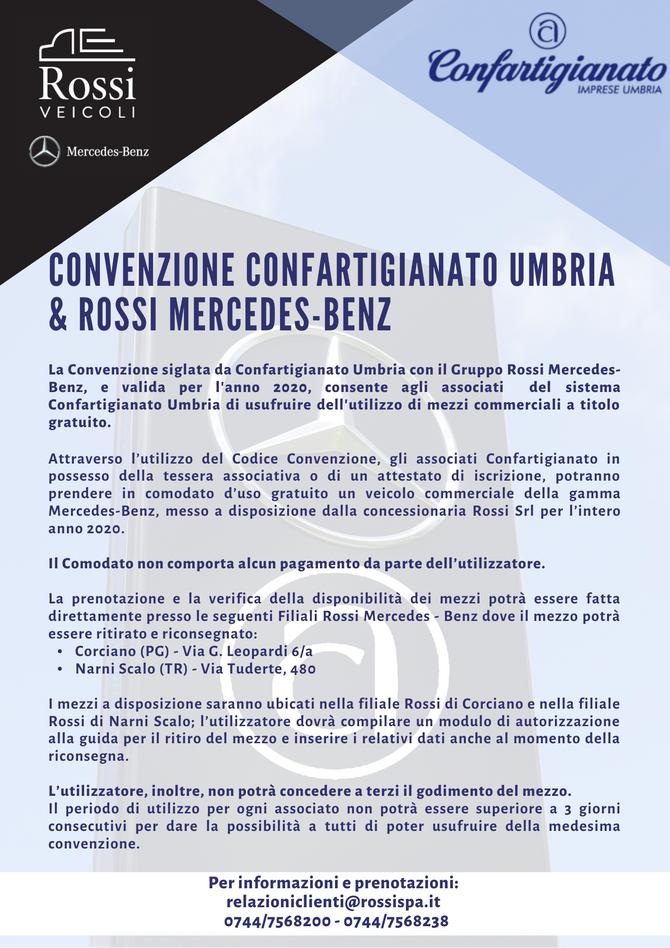 CONVENZIONE CONFARTIGIANATO UMBRIA & ROSSI MERCEDES-BENZ
