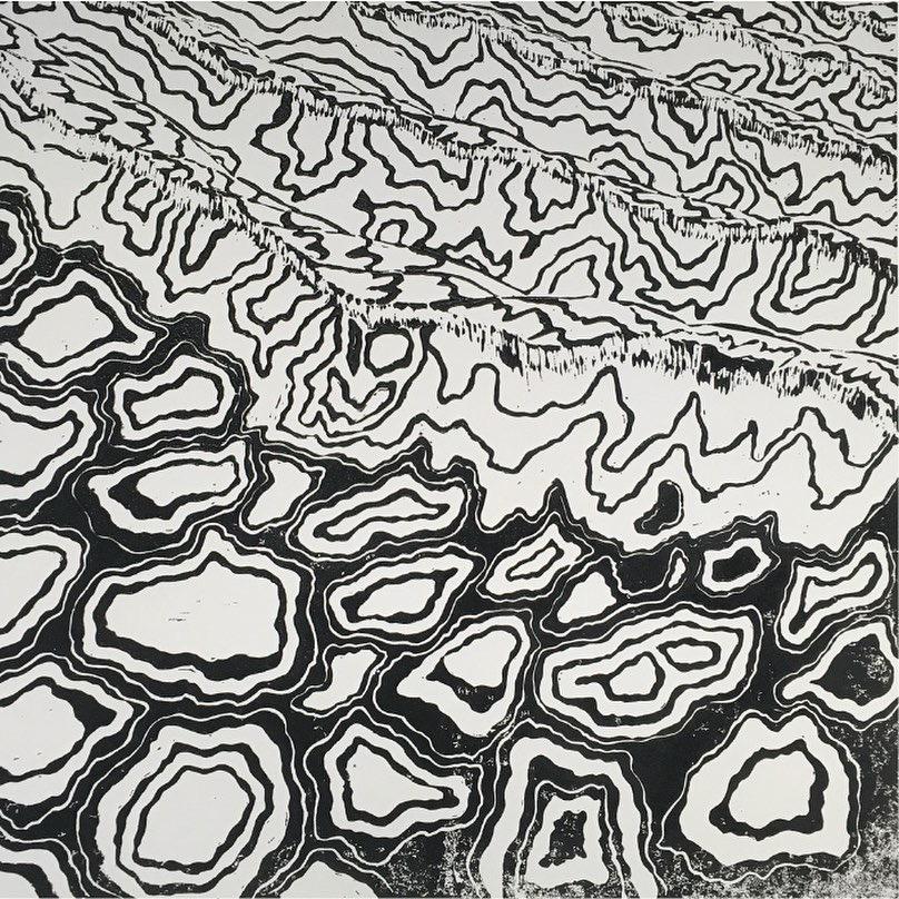 Wave-Lino-Print