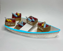 Rowboat model for inside the theatre