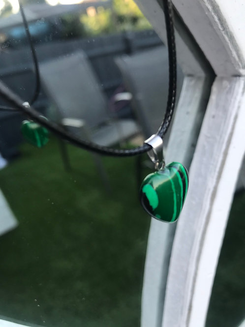 Malachite Heart Necklace
