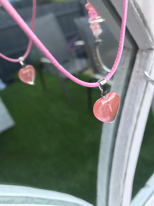 Morganite Heart Necklace