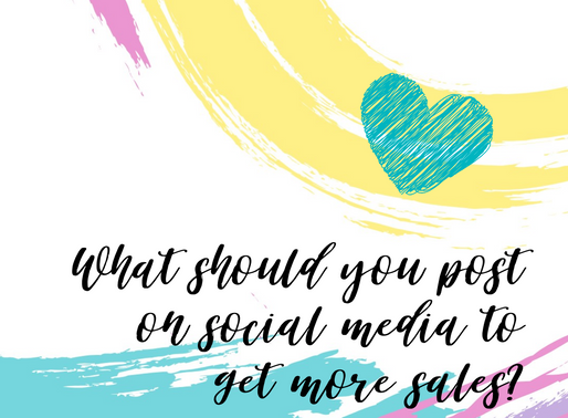 Quick Tip - What Should You Post on Social Media To Get More Sales??