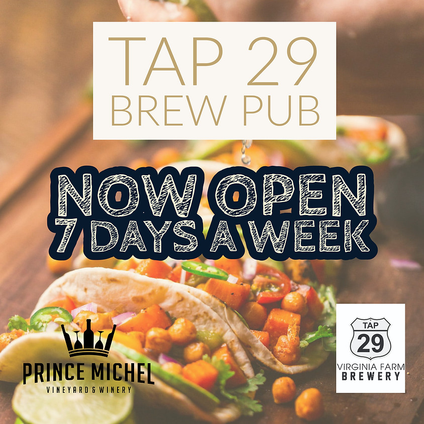 Tap 29 Brew Pub Open 7 Days A Week