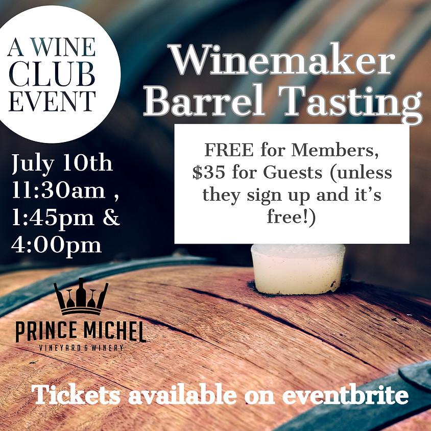 Barrel Tasting with Wine Maker