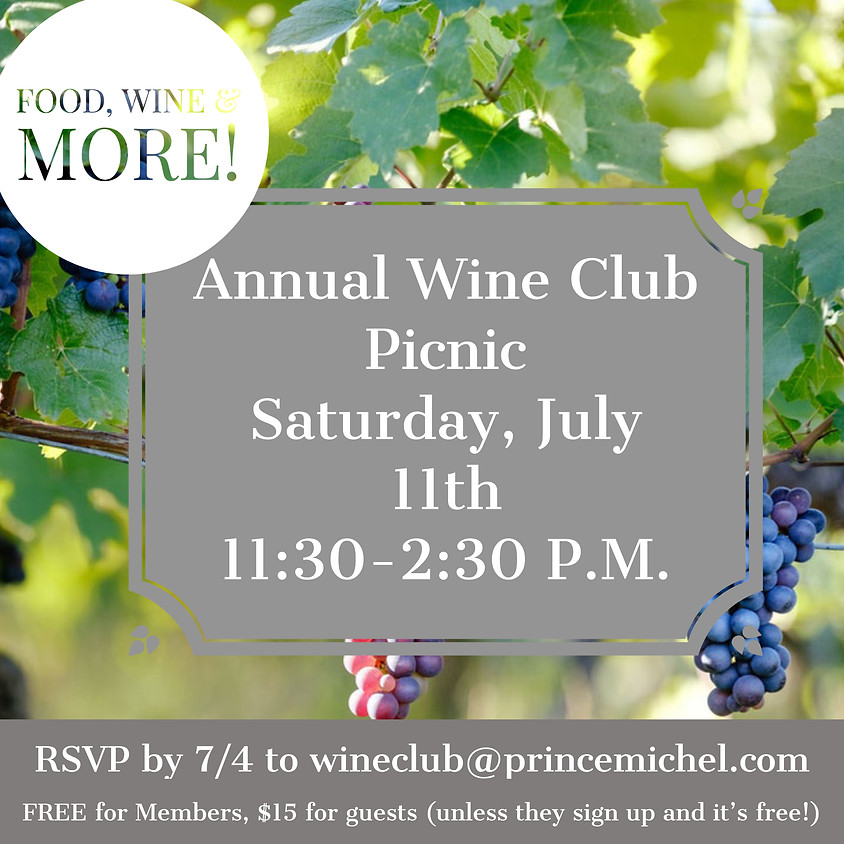 Annual Wine Club Cookout