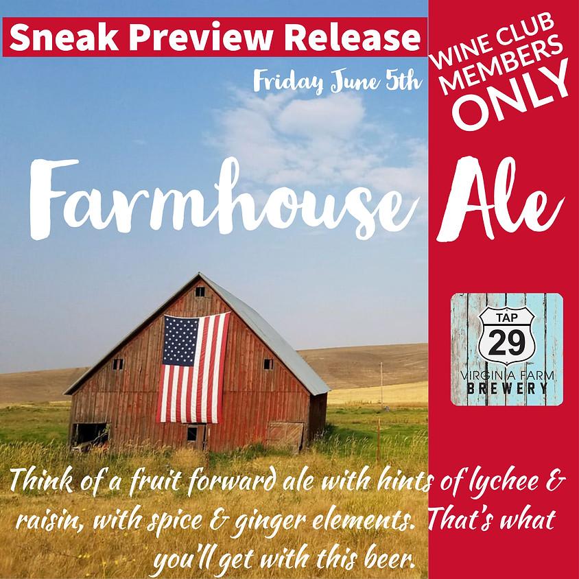 Sneak Preview Farmhouse Ale