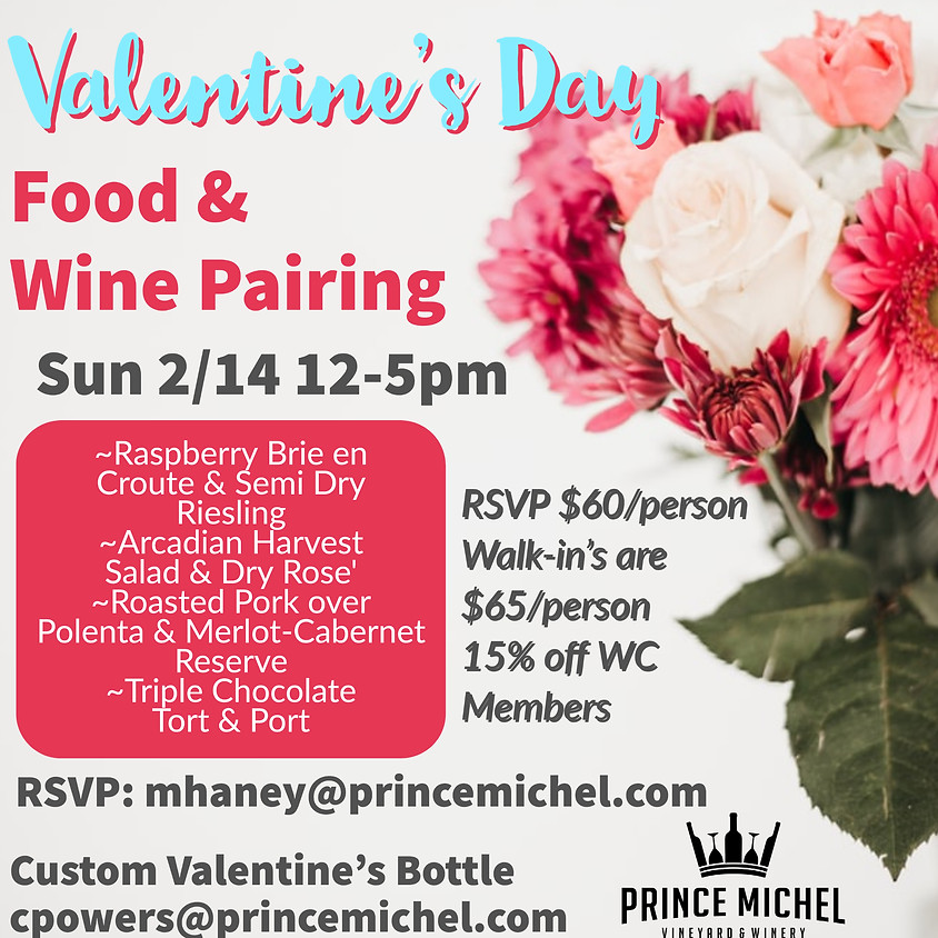 Valentine's Day Food & Wine Pairing