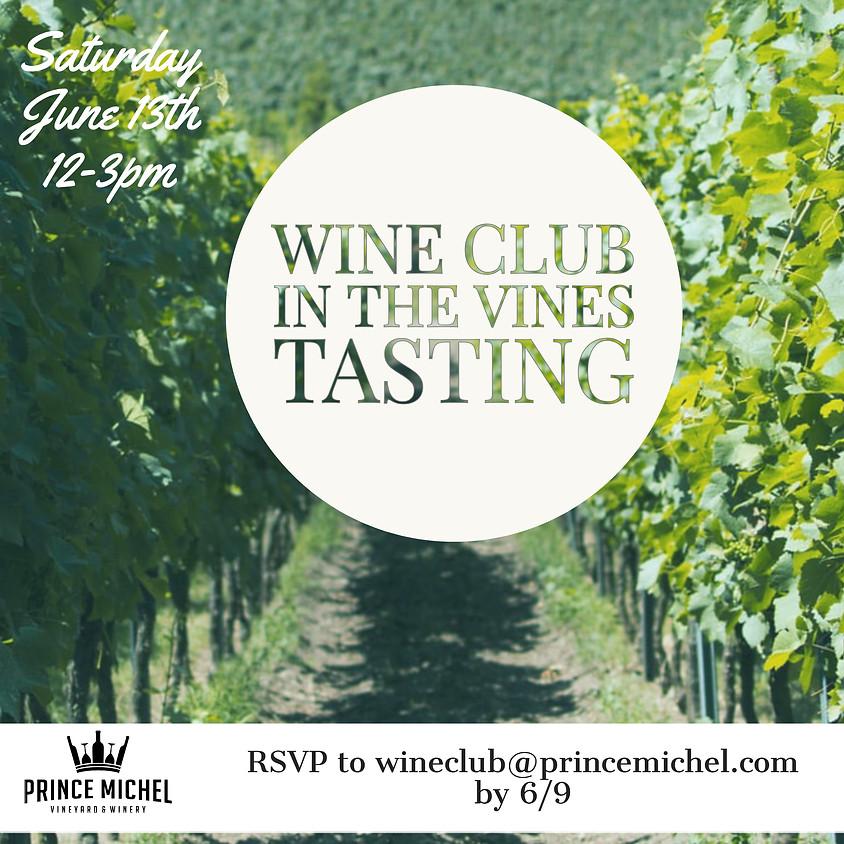 Wine Club In The Vines Tasting