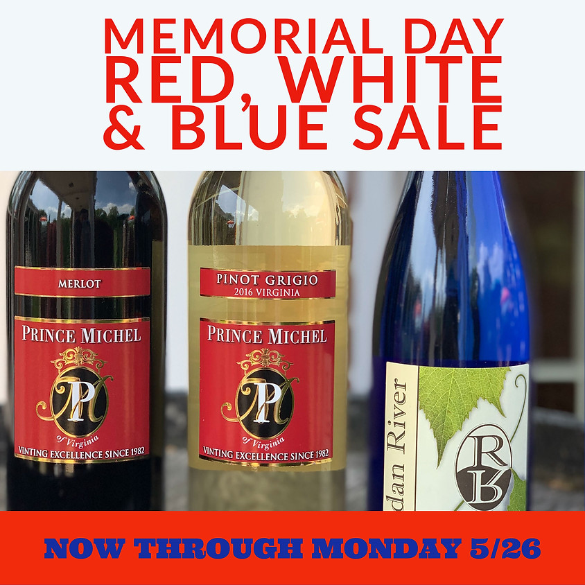 Red, White & Blue Memorial Day Sale