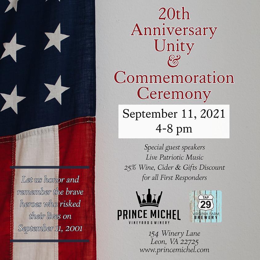9/11 20th Anniversary Commemoration
