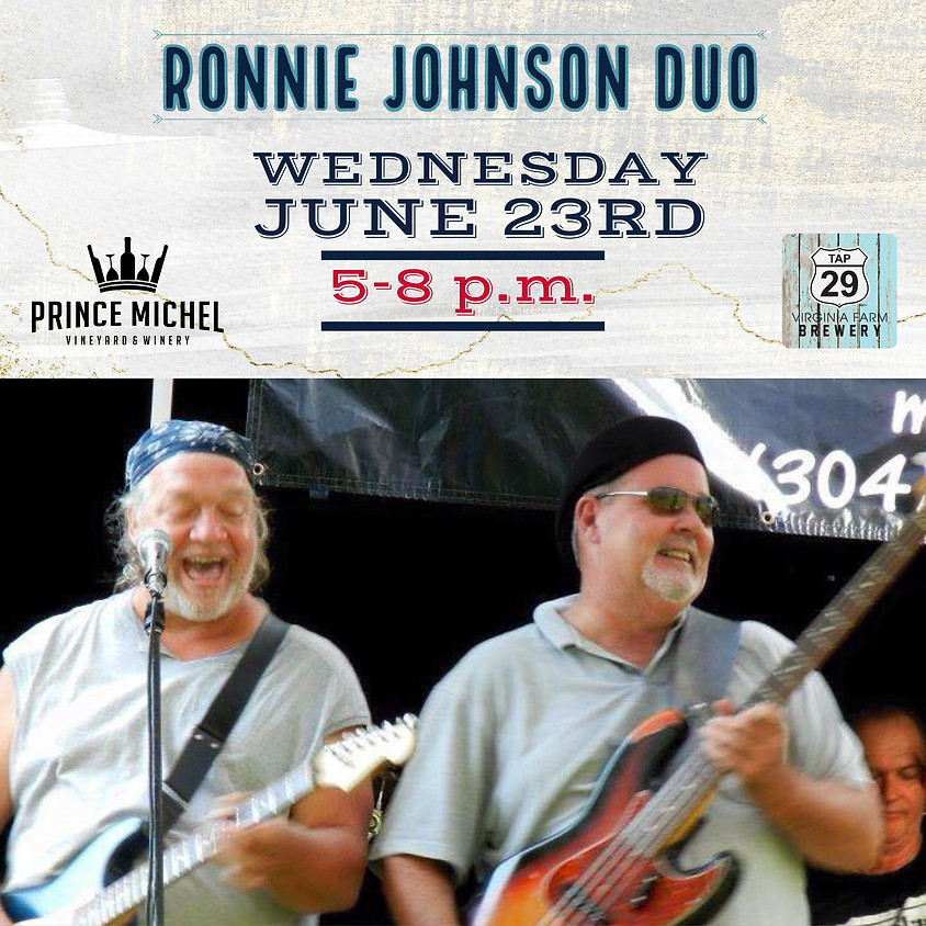 Live Music by The Ronnie Johnson Duo!