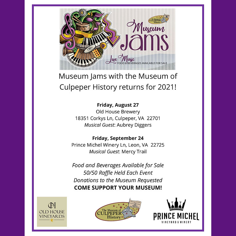 Museum Jams with the Museum of Culpeper History!