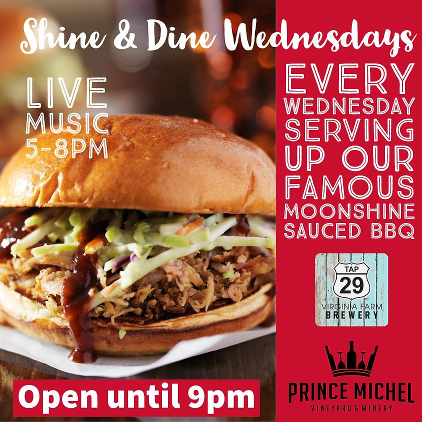 Shine & Dine Wednesdays Featuring Dave Lange