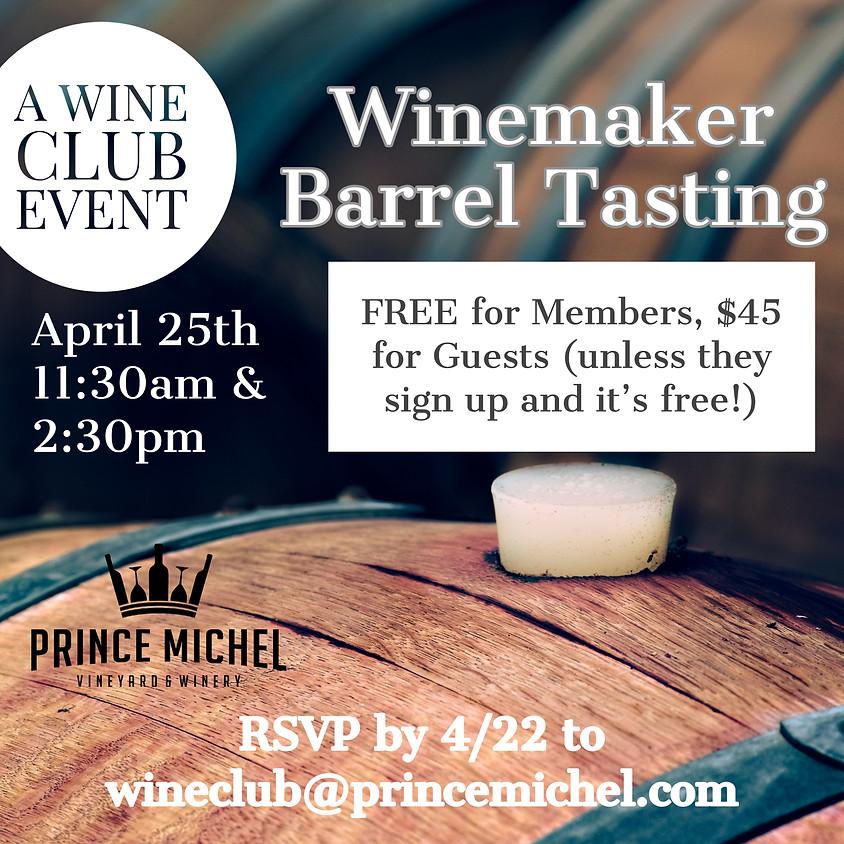 Barrel Tasting with Wine Maker (2nd session)