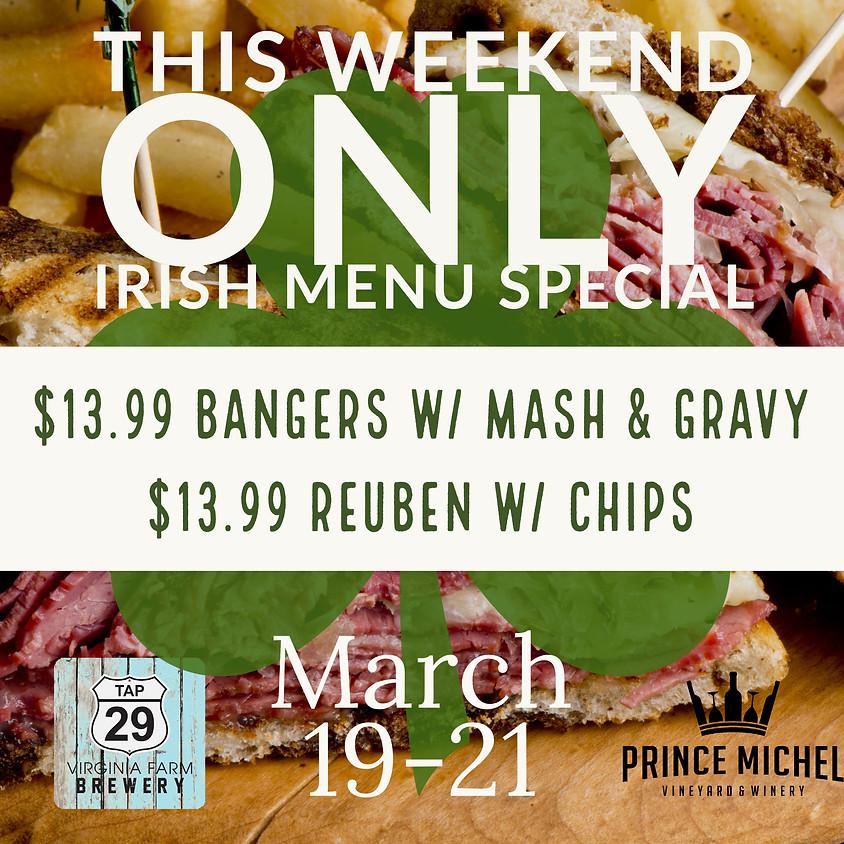 Irish Menu Special