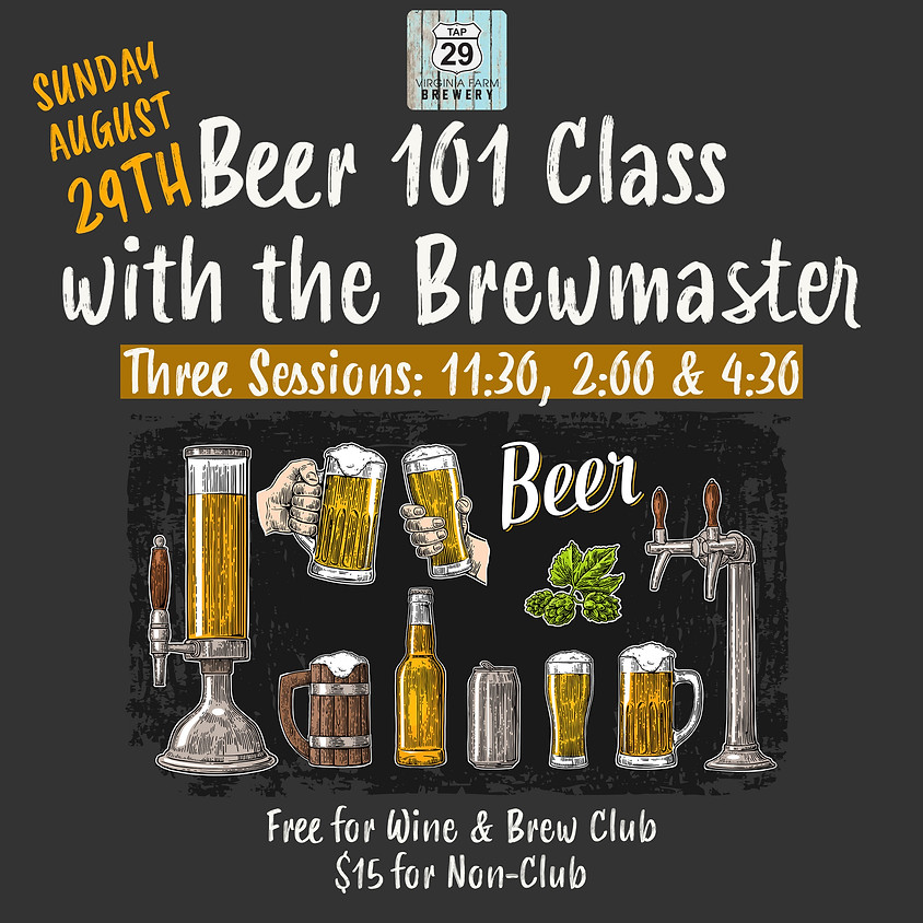 Beer 101 with the Brewmaster!