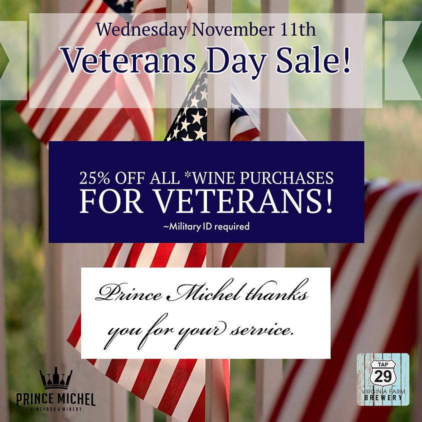 Veteran's Day Sale!