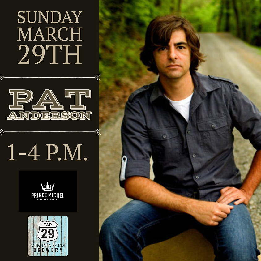 Live Music by Pat Anderson!