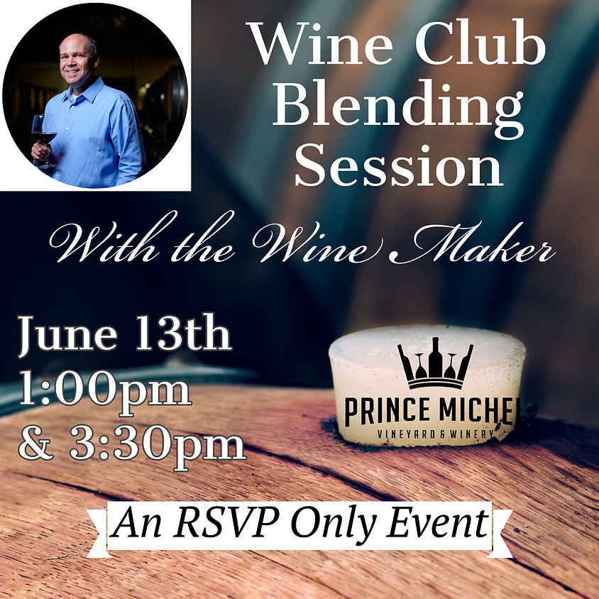 Wine Club Blending Event (2nd slot)