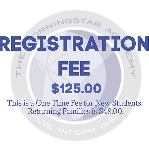 One Time Registration Fee (non-refundable)