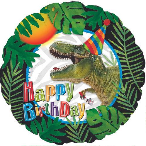 Happy Birthday - Party Dinosaur - 18 inches