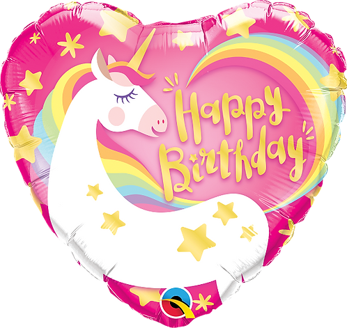 Happy Birthday - Magical Unicorn - 18 inches