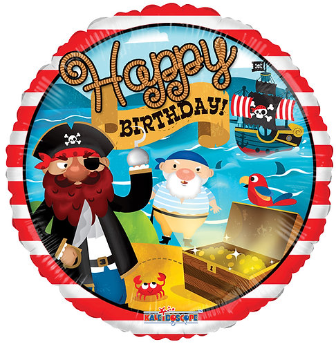 Happy Birthday - Pirate Treasure - 18 inches