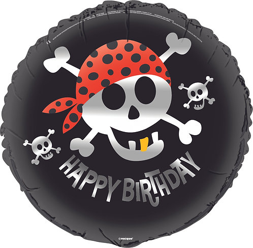 Happy Birthday - Pirate Fun - 18 inches