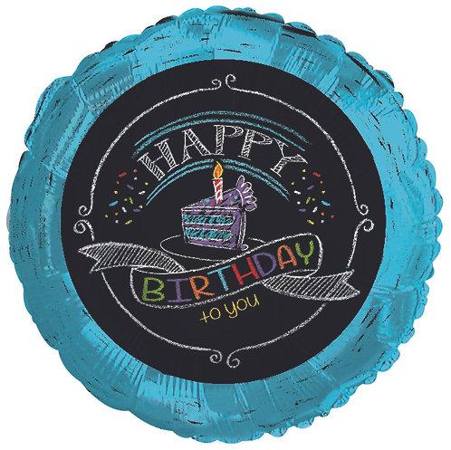 Happy Birthday - Chalk - 18 inches