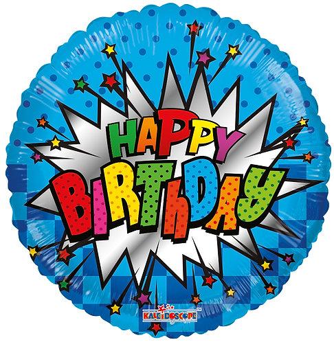 Happy Birthday - Burst 18 inches