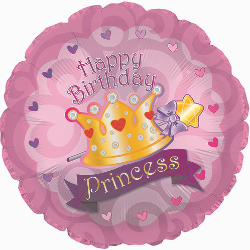 Happy Birthday - Princess Crown - 17 inches