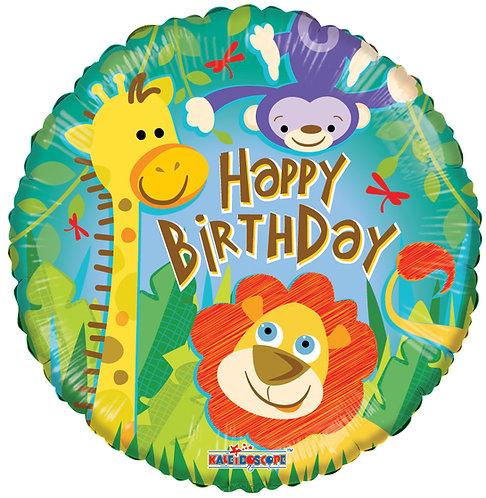 Happy Birthday - Jungle Balloon - 18 inches