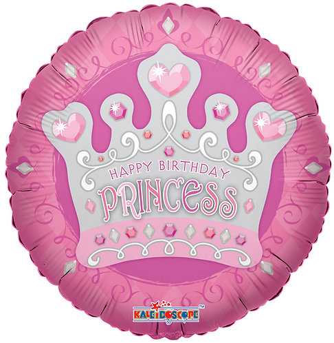 Happy Birthday - Princess Tiara - 18 inches